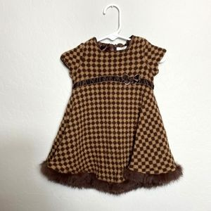Trish Scully 12M Brown Wool Blend Dress